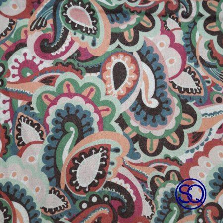 Bufanda Cachemires azules Sagrario Quilez Tocados y complementos