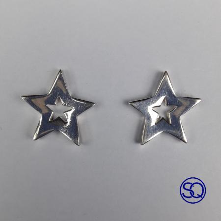Pendiente estrella plata. Sagrario Quilez tocados y complementos (2)