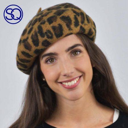 boina leopardo. tocados y complementos Sagrario Quilez (2)