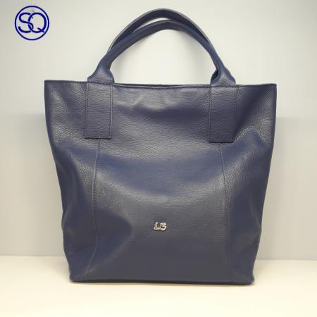bolso piel shopping azul medio(10)tocados y complementos sagrario quilez