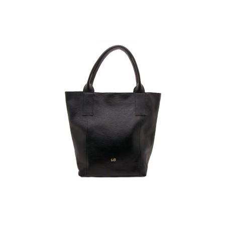 bolso piel shopping negro.