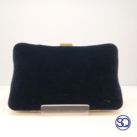 bolso terciopelo azul pavo. Tocados y complementos sagrario quilez (1)