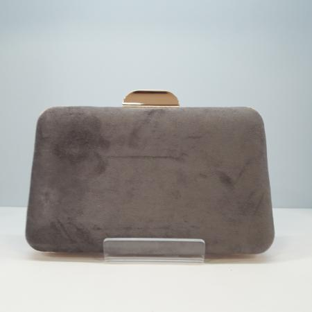 clutch terciopelo gris Tocados y complementos Sagrario Quilez (3)