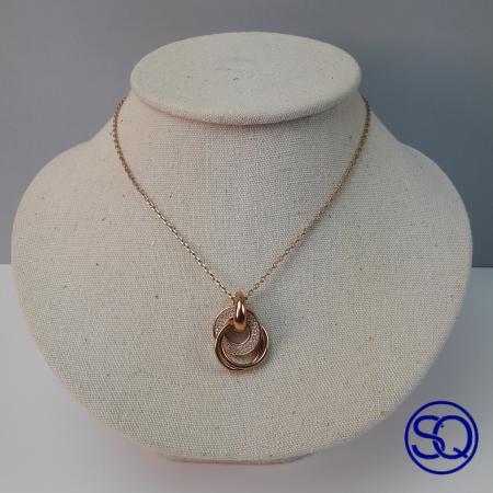 collar anilla circonitas chapadas. Tocados y complementos Sagrario Quilez (3)