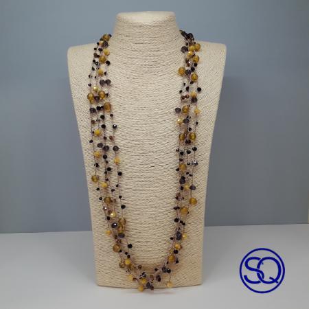 collar crochet mostaza y negro Tocados y complementos Sagrario Quilez (5)