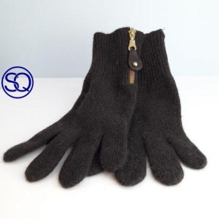 guantes lana marrón con cremallera. Sagrario Quilez tocados y complementos (3)