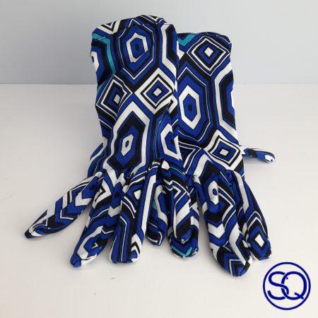 guantes rombos azules sesenteros. Sagrario quilez tocados y complementos (6)