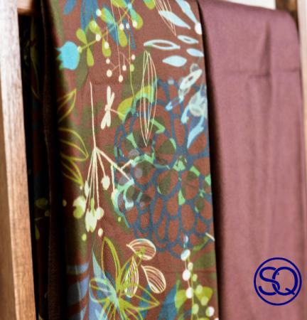 pañuelo libélulas y vuelta caldero.tocados y complementos Sagrario Quilez