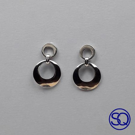 pendiente doble anilla plata. Tocados y complementos Sagrario Quilez (2)