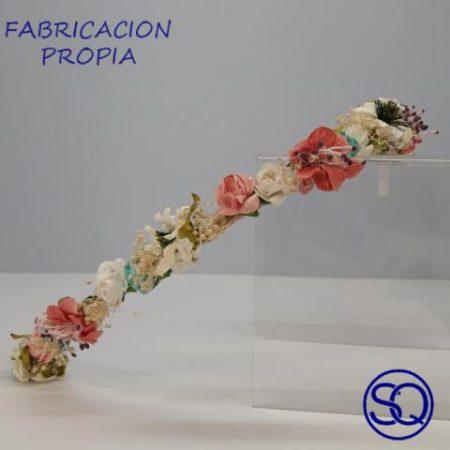 tiara fina flores. Tocados y complementos Sagrario Quilez (1)