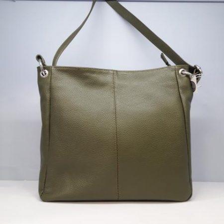 bolso recto piel verde. Tocados y complementos (2)