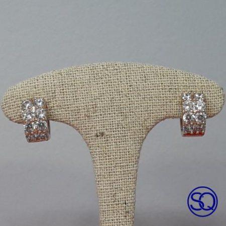 pendientes de aro chapado oro doble. Tocados y complementos Sagrario Quilez (1)
