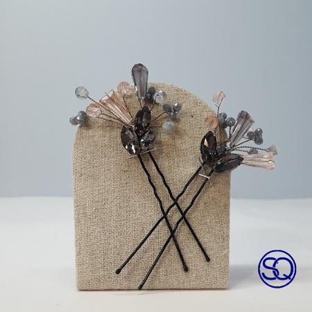 Horquillas de moño de cristal de Swarowski y Preciosa para decorar los recogidos, si eres de las que no te gus