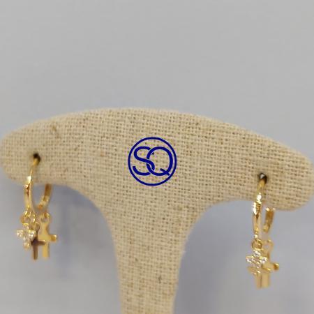 aros dorados con cruces colgantes (1)