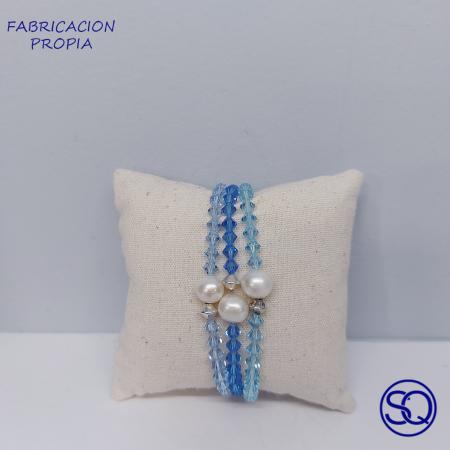 pulsera Swarovski perla y plata 1. Tocados y complementos Sagrario quilez (1)