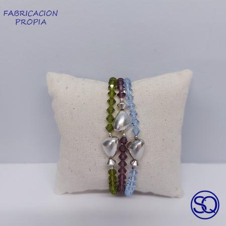 pulsera Swarovski y pepita plata 1.Tocados y complementos Sagrario Quilez (3)